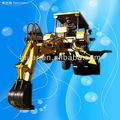 Wz10-10 28hp küçük mini yükleyici kazıcı/mini iş makinesi 10-10/4wd/bir- silindirli motor