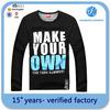 most comfortable design printing mens long sleeves t shirt