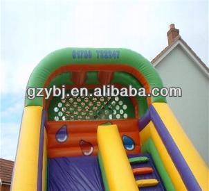christmas theme inflatable slide