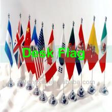 polyester desk flags,mini printing table desk flag,metal desk flag