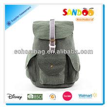 2014 BSCI audit unisex useful vintage canvas hiking backpack