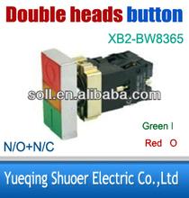 double keys push button switch XB2-BW8365