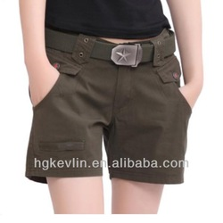 2014 newest style xxx indonesia women military camouflage shorts