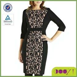 New design woman clothes Lace Panel Dress latest fashion dresses