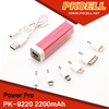 Shenzhen OEM factory universal portable power bank with Micro USB Input port 2200mah