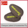 Oval shape pvc label rubber patch logo for garment (PS-2174)