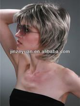2014 Fashional style short grey hair human hair wig