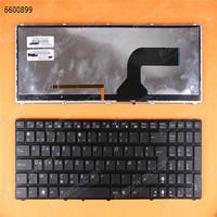 Wholesale new original laptop keyboard for ASUS G73 K52 BLACK FRAME BLACK Backlit Layout Belgium laptop light up keyboard