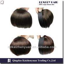 AAAA grade 100% remy human hair bang extension