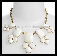 2014 Swirl Round Steatement Bib Graduated Necklace