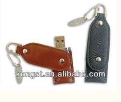 unique hot selling usb flash keychain leather usb stick OEM factory