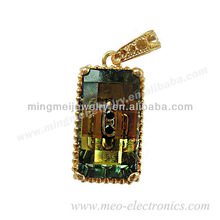Commemorative meaning of gifts jewelry usb flash sticks wtih necklace