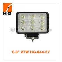"""HG84-27 6.8"""" 27W led 12v car spotlights led work lighting"""