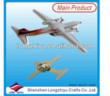 Custom Plane 3D Metal Printing Badges/Emblems/Insignia For Promotional Items