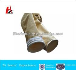 Acrylic filter bag fabrication seaming filter