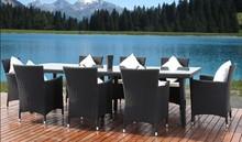 5pcs Rattan and wicker cheap aluminum rattan furniture for restaurant