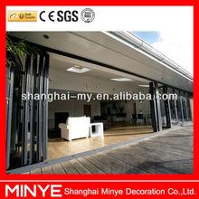 Cheap aluminum folding door/glass folding door/folding doors room dividers