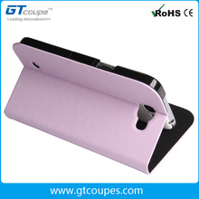 Newest luxury colorful pu leather flip case flip pu cover with stand for samsung galaxy note 2