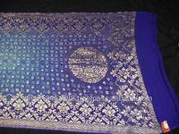 Banarasi crepe saree with work in Blue color