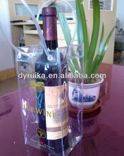 Clear Plastic PVC wine bottle bag