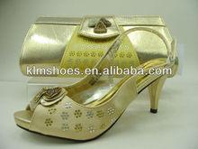 Holywin red pearl shinning rhinestones low heel women bridal wedding shoes