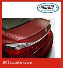 2013 ABS plastic rear trunk boot rear lip wing spoiler for honda accord