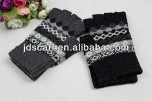 half finger knit gloves 2014 acrylic winter gloves