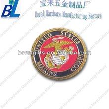 Colorful petal edge US marine challenge coins
