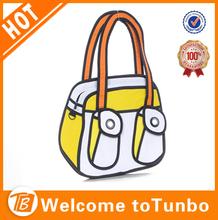 new 3d products whole cheap tote carton bag comic gismo bag shape tote bag yellow