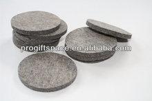 2014 cheap Fashionable handmade round felt coastersin bulk for sale made in China