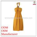 De haute qualité à faible prix des femmes de taille plus robe licou motif.