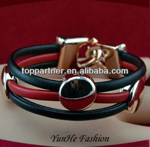 popular items for leather bracelets and charms