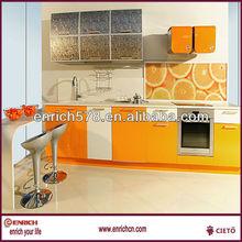 (UV Lacquer Melamine )Guangzhou Foshan manufacture modern kitchen furniture(EKJC135023)