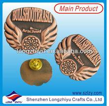 Custom Souvenir Metal Antique Pins/Badges,Gold Soft Enamel Metal Pin Badge Shenzhen Manufacturer