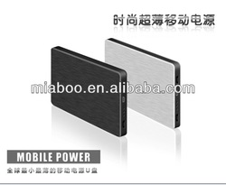 2014 newest mobile power bank, factory price mobile power supply, 100% real capacity mobile phone power bank