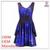Ladies' cotton print dresses high quality direct manufacture ladies fashionable roman style dress