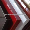 high gloss pvc unicolor banda borda combinado com placa