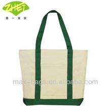 Bags for LessTM Heavy-duty Cotton Canvas Bag Shoulder Zipper Boat Tote Bag