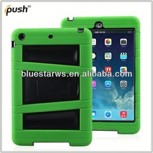 Cover case for ipad air Robot Case For IPad 5 PC + Silicon Case For Apple IPad Air