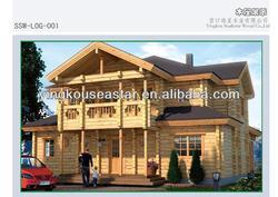 prefab log homes LOG-001