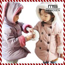 ta50279 korean cute rabbit style Thick plush rabbit ears hat baby girls cotton coat