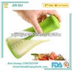 BPA free plastic salad dressing shaker bottle