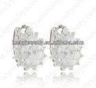 big white zircon stone earrings