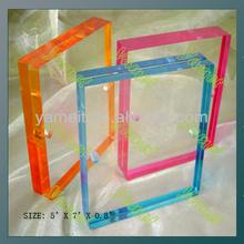 Rectangle Pantone Small Acrylic Desktop Photo frame factory sell