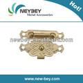 Decorativos de metal broche de cierre para la caja de madera en bl105 32*23mm