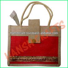 Promotional jute shopping bag/jute bag shopping
