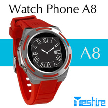 android smart watch phone A8 with 1.3mp camera bluetooth 3.0 1.54inch 240x240p screen mobile watch