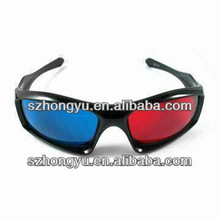 red blue cyan anaglyph 3D glasses