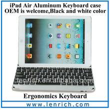LBK177 2014 New Black Aluminum Bluetooth Keyboard For iPad Air 5