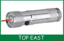 8 LEDS+1 Infrared laser flashlight 37*132mm laser 1 watt led flashlight